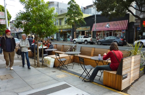 Parklet on Haight Street in San Francisco