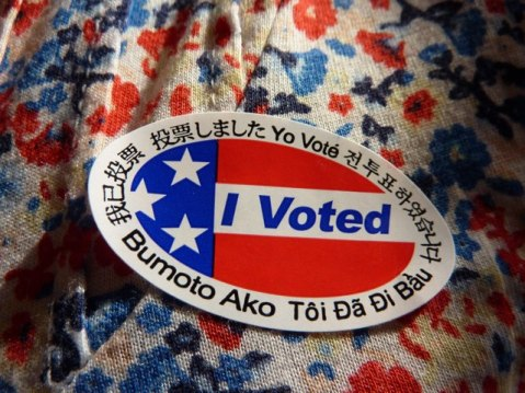 Los Angeles County voting sticker. Photo by Anna Peccianti