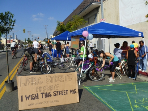 I Wish This Street Was presented by Living Streets Los Angeles at CicLAvia. Photo by Living Streets LA