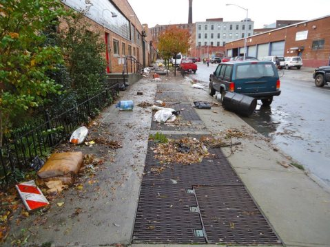 Ash Street in Greenpoint, Brooklyn after Hurricane Sandy. Photo by Newtown Creek Alliance