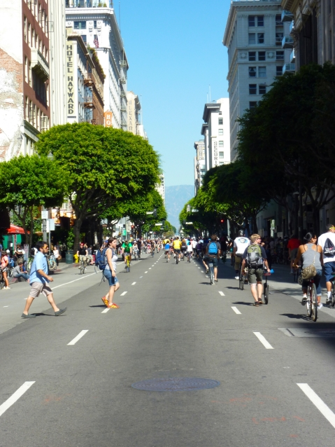 CicLAvia in Los Angeles, CA. Photo by Anna Peccianti