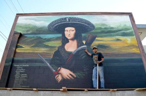 """Pacoima's Art Revolution by Levi Ponce. Photo by April Aguirre via KCET Departures."