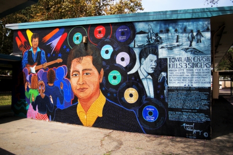 """Ritchie Valens by Manny Velazquez. Photo by April Aguirre via KCET Departures."